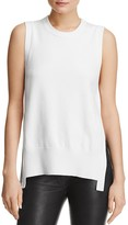 DKNY Mixed Media Sleeveless Crewneck Top