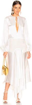 Marques Almeida Marques ' Almeida Lace Insert Long Dress in White | FWRD