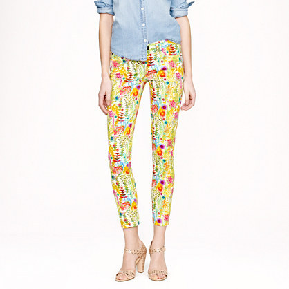 J.Crew Liberty toothpick jean in Tresco floral