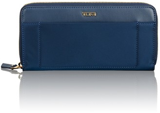 Tumi Zip Around Contentinal Leather Trimmed Nylon Wallet