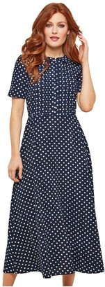 Joe Browns Bubble Crepe Polka Dot Dress - NavyWhite
