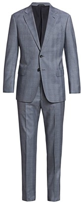 Giorgio Armani Windowpane Virgin Wool Suit
