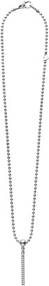 Lagos Caviar Spark Diamond Bar Pendant Necklace
