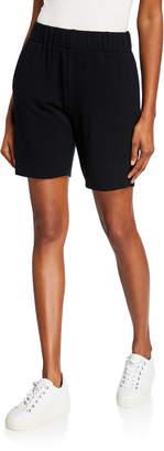 Made on Grand Topstitched Cutoff Jogger Shorts