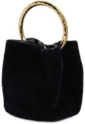 Marni PANNIER SHEARLING BUCKET BAG