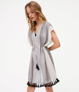 LOFT Beach Shimmer Stripe Caftan Dress
