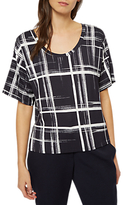 Jaeger Graphic Check Jersey T-Shirt, Navy/Ivory