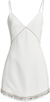 David Koma Embellished Crepe Mini Dress