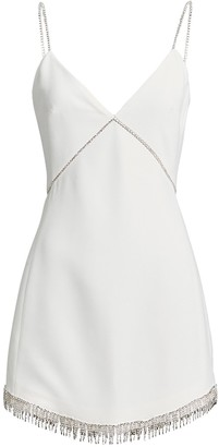 David Koma Embellished Crepe Mini Dress
