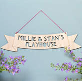 Modo creative Personalised Wooden Hanging Sign