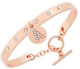 BCBGeneration Say My Name Glass Stone A Toggle Bracelet