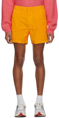 ERL Orange Corduroy Shorts