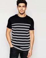 Brave Soul Textured Stripe T-shirt