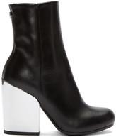 McQ by Alexander McQueen Black Mirrored Heel Gefrye Boots