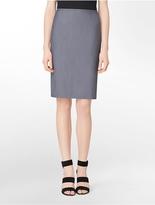 Calvin Klein Chambray Pencil Skirt