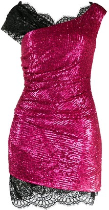 Dundas Layered Sequined Mini Dress
