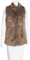 Rachel Zoe High Neck Faux Fur Vest