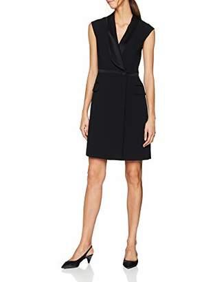 Karen Millen Women's Satin Detail Tailoring DresParty Party Dress,(Size:UK )