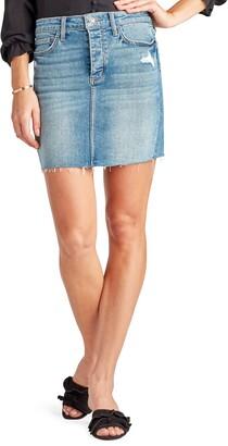 Sam Edelman The Jenny Raw Hem Denim Skirt