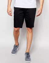 Asos Skinny Mid Length Tailored Shorts In Black