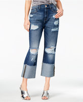 M1858 Ripped Sunset Wash Cropped Jeans