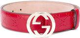 Gucci Signature interlocking GG buckle belt - women - Calf Leather - 80