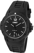 Limit Men's Quartz Watch with Black Dial Analogue Display and Black Silicone Strap 5464.01