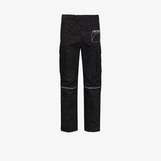 Off-White Zip Cargo Cotton Sweatpants