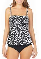 ST. JOHN'S BAY St. John's Bay Polka Dot Smocked Tankini SwimsuitTop