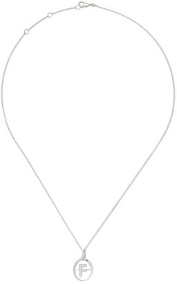 Annoushka 18kt white gold diamond initial F necklace