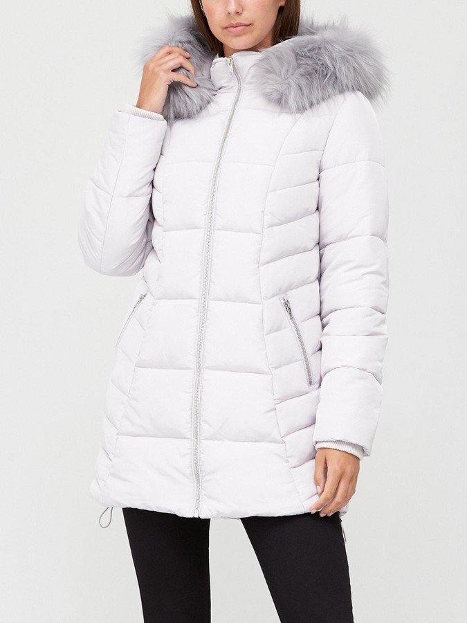 Thumbnail for your product : Very Multi Seam Padded Jacket - Pale Grey