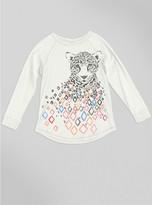 Junk Food Clothing Kids Girls Cheetah Raglan-sugar-xl