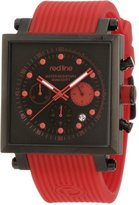 Redline Red Line Men's Specialist World Time Dial Silicone Watch RL-50037-BLK