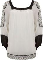 Mint Velvet Ivory Embroidered Sleeve Blouse