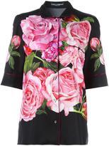 Dolce & Gabbana rose print pyjama blouse - women - Silk - 42