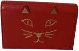 Charlotte Olympia Red Leather Handbags