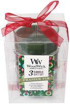 WoodWick Frasier Fir Candle Gift 3-piece Set