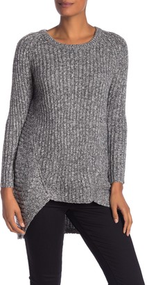 Papillon Marled High/Low Pullover