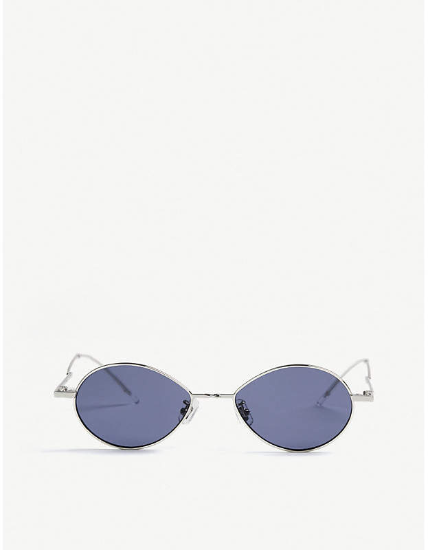 Gentle Monster Cobalt tinted stainless steel sunglasses