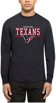 '47 Men's Houston Texans Double Option Splitter Long-Sleeve T-Shirt