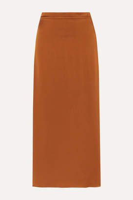 Vanessa Bruno Marie Satin-crepe Midi Skirt - Light brown