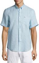 Lacoste Short-Sleeve Linen Sport Shirt
