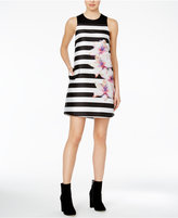 Rachel Roy Striped Floral-Print Shift Dress