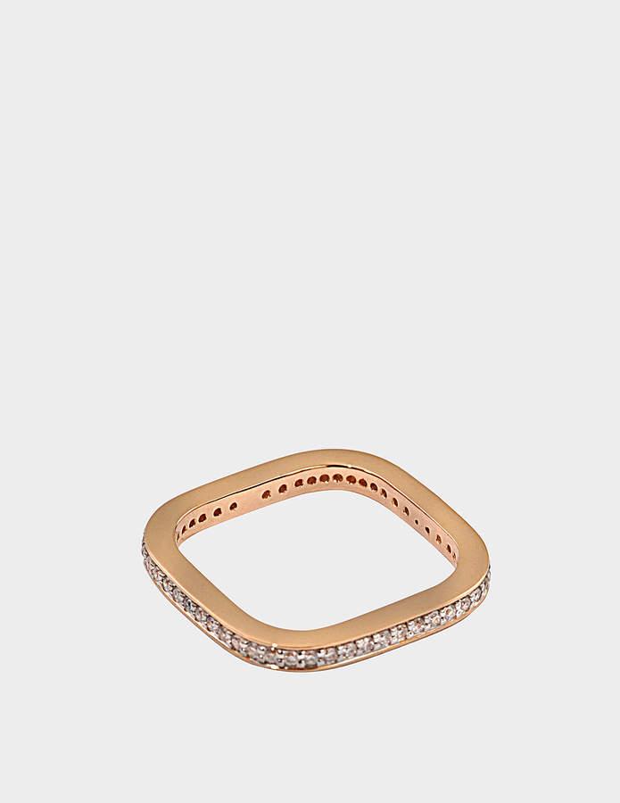 ginette_ny Diamond TV 18-karat rose gold ring