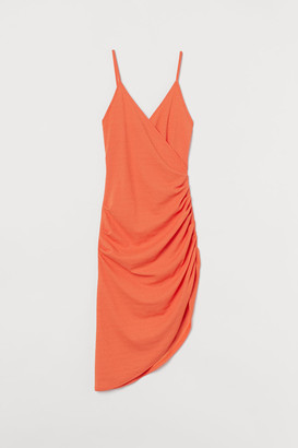 H&M Draped Jersey Dress - Orange