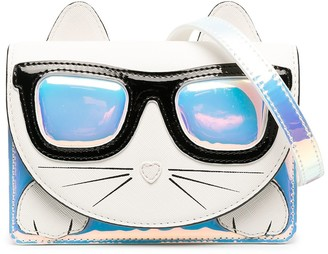 Karl Lagerfeld Paris Choupette holographic shoulder bag