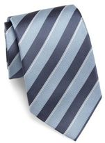 Giorgio Armani Two-Toned Striped Slim Silk Tie