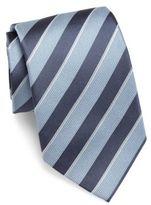 Giorgio Armani Two-Toned Striped Slim Silk Tie
