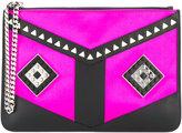 Les Petits Joueurs stud embellished clutch bag