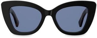 Fendi 70mm Logo Print Cateye Sunglasses